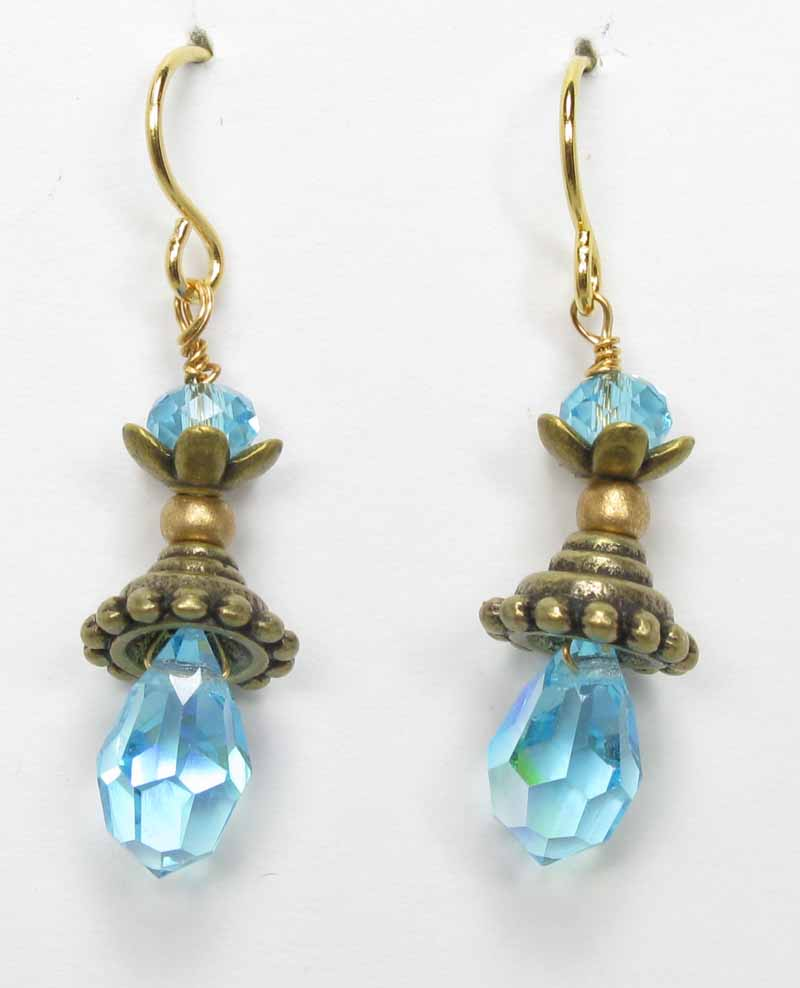 Pixie Earrings in Aqua