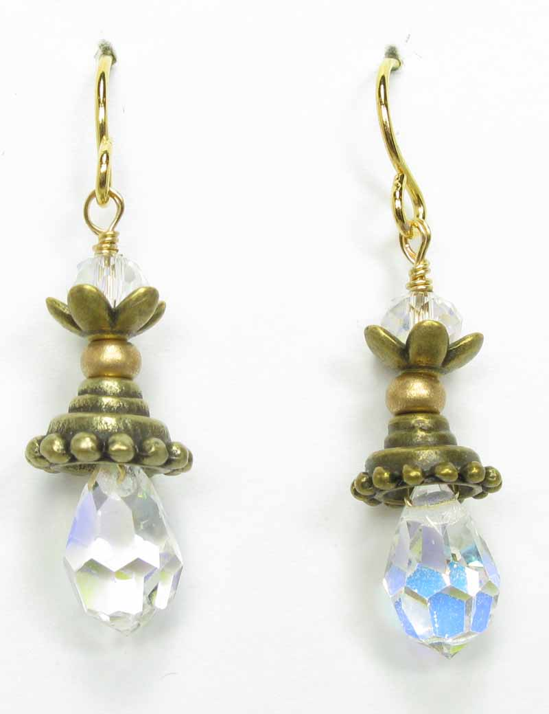 Pixie Earrings in Crystal
