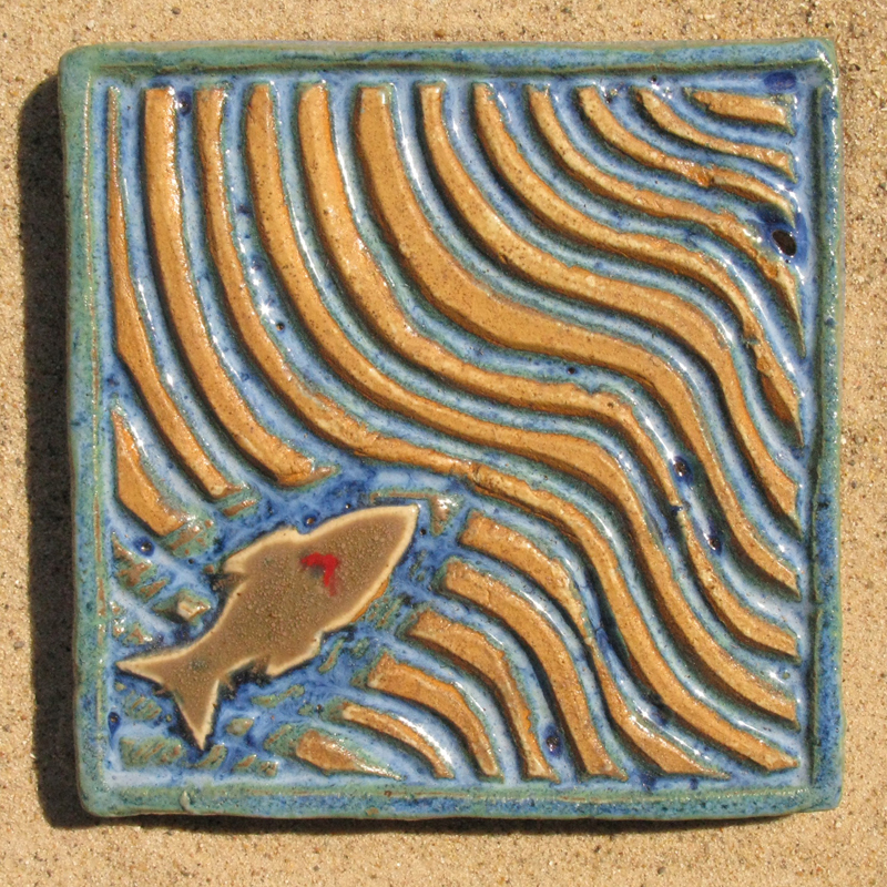 Travelling Fish Tile