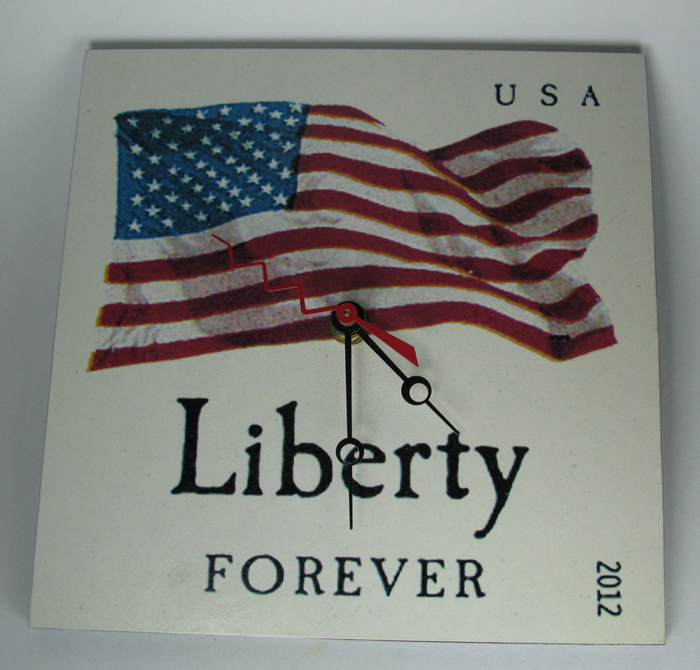 Liberty Forever Stamp Clock