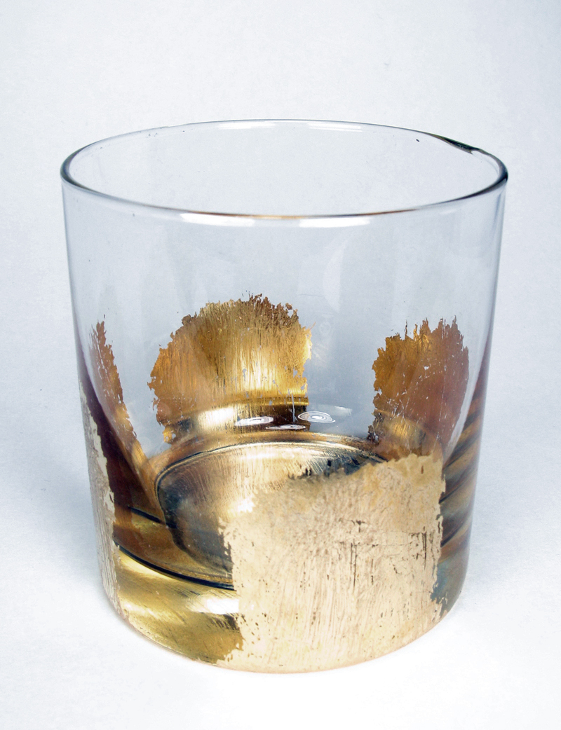 Gold Leaf Cocktail Glass