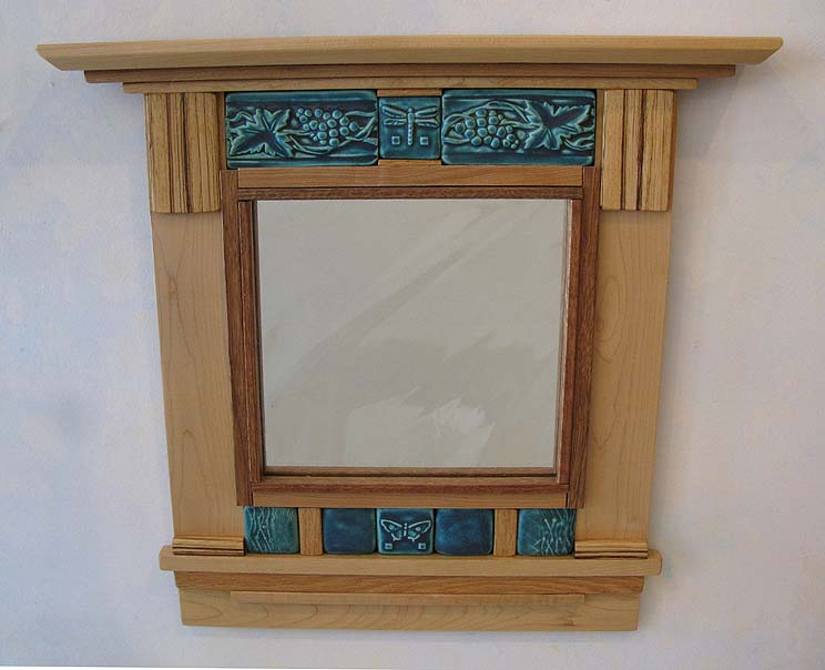 Tile and Wood Mirror