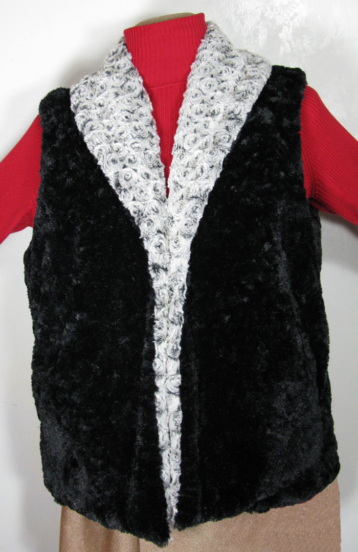 Vest - Black Cuddly Side Out