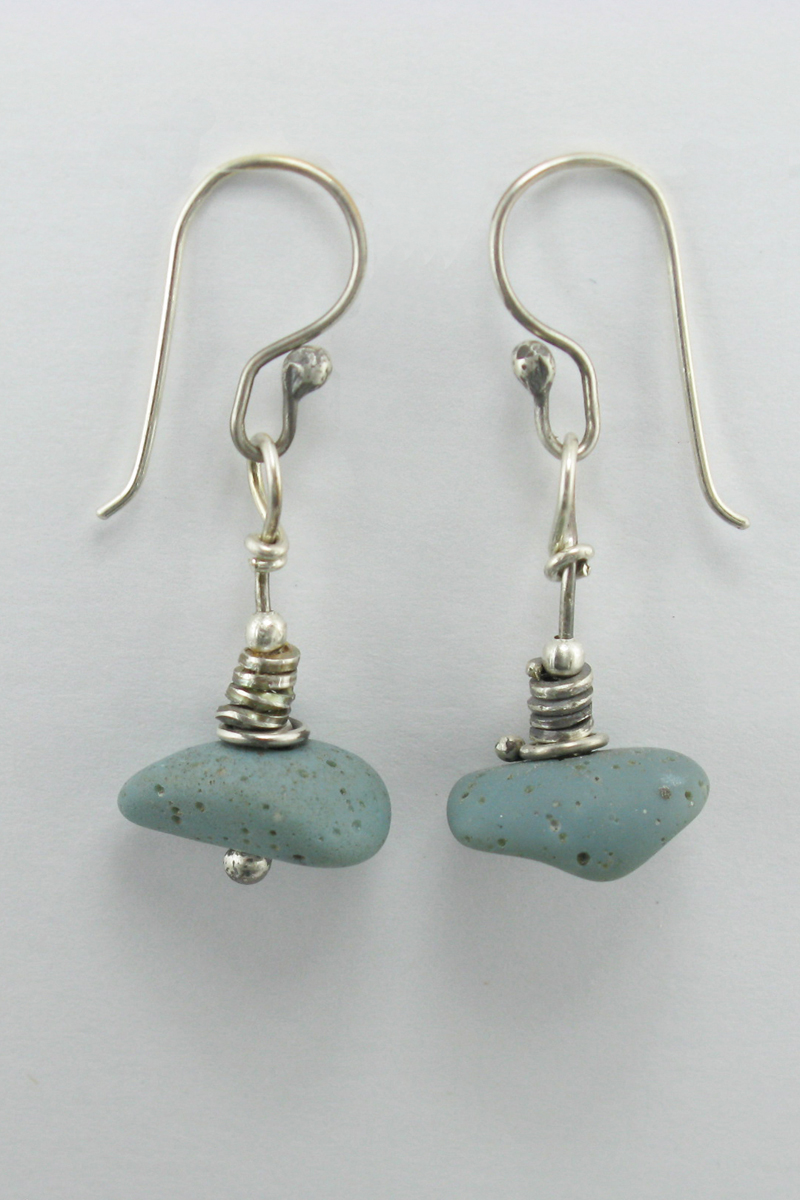 Leland Blue Single Stone Stacked Earring