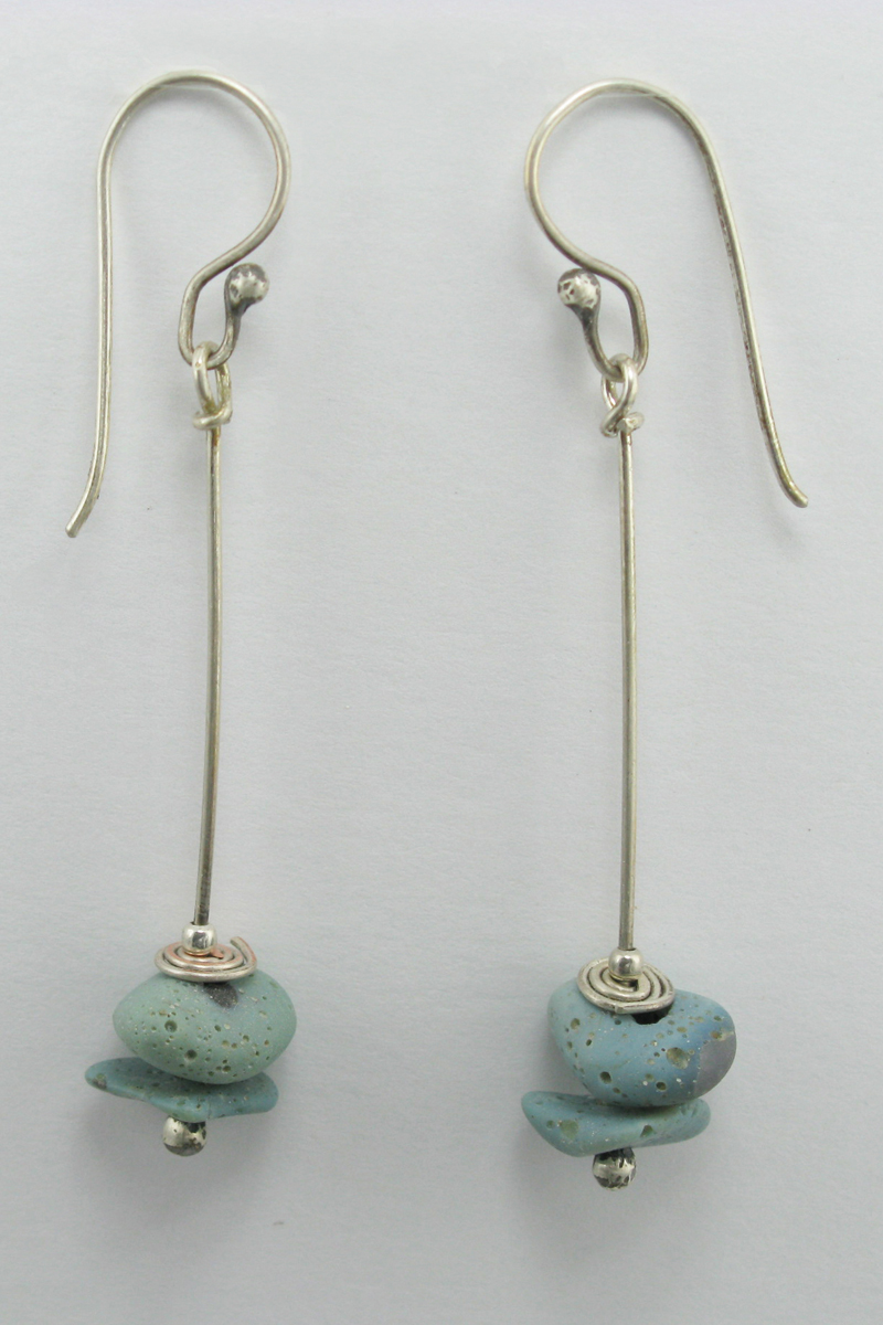 Leland Blue 2 Stacked Stone Earrings