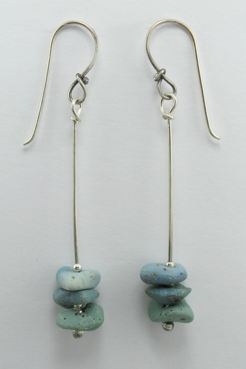 Leland Blue 3 Stone Stacked Earrings